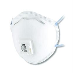 Immagine di respiratore 3M 8322 per polveri FFP2 con valvola - 10 pz