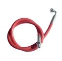 Immagine di tubo silicone 180°C standard rosso con attacchi 1/4 MF - 2 ml