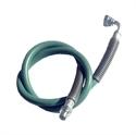 Immagine di tubo silicone 210°C rinforzato verde con attacchi 1/4 MF - 2 ml