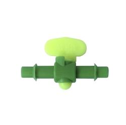 Immagine di valvola mini rubinetto a sfera tubi 6 mm plastica